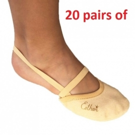 20 pairs of Soft Microfiber Half shoe  pairs