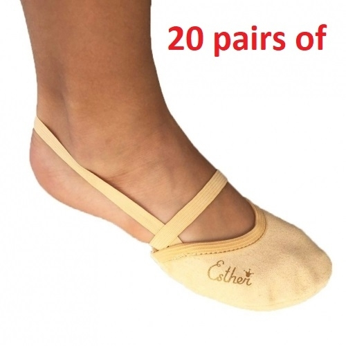 20 pairs of Soft Microfiber Half shoe