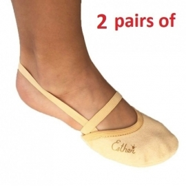 2 pairs of Soft Microfiber Half shoe
