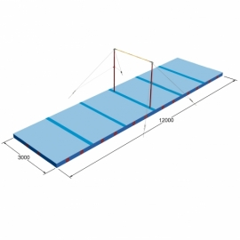 Landing mats horizontal bar