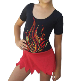 Rhythmic gymnastic leotard FIRE