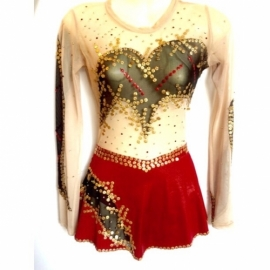 Leotard 156 Red-Gold