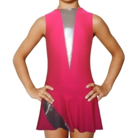 R.G. Leotard Elegance pink with silver inserts