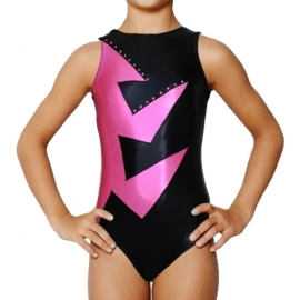 Leotard Abstraction Pink-Black