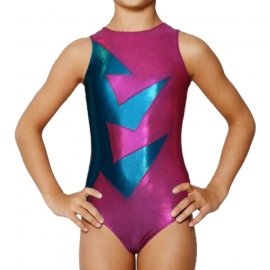 Leotard Abstraction Pink-Blue