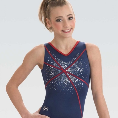Blue Leotard for artistic gymnastics GK