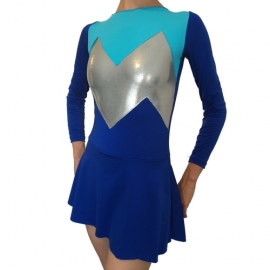 Leotard Tricolor Blue with skirt