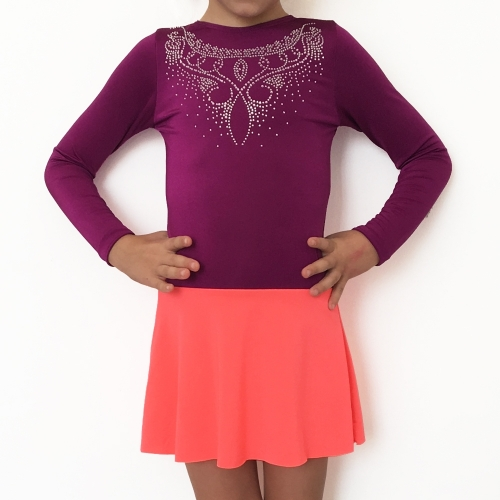 Purple leotard for kids BABY CHIC