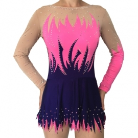Leotard for competition Tulips