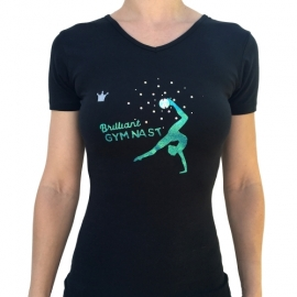 T-shirt with crystals Brilliant Gymnast with Ball