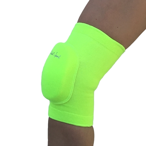 Bright yellow knee pads with elastic pad