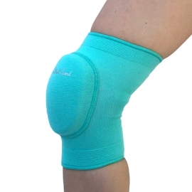 Turquoise knee pads with elastic pad
