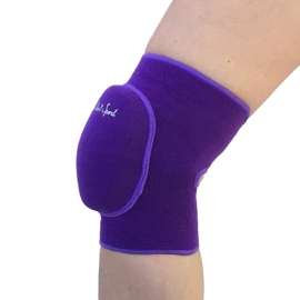 Purple knee pads with elastic pad