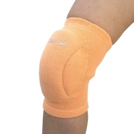 Orange knee pads with soft pad
