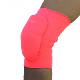 Pink knee pads with a hard pad