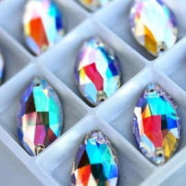Big crystals OVAL 15*32 mm АВ - 15 pcs