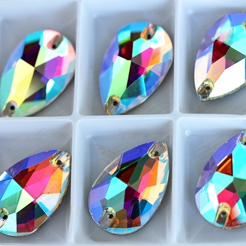 Big crystals DROP 17*25 mm АВ - 12 pcs