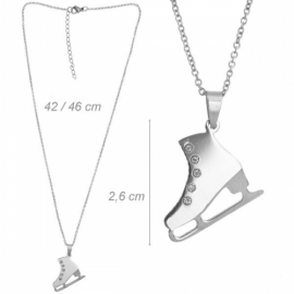 Necklace with  ice skate pendant