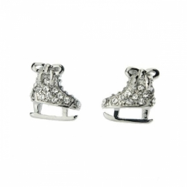 Ice skates earrings with rhinestones