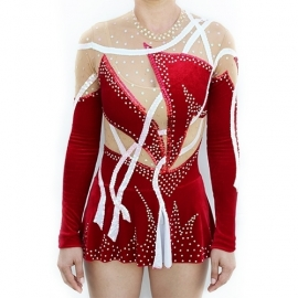 Leotard model 162 Red Velvet for rent