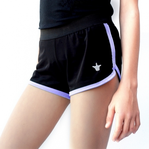 Shorts with purple ending