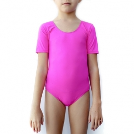 Short sleeve pink leotard