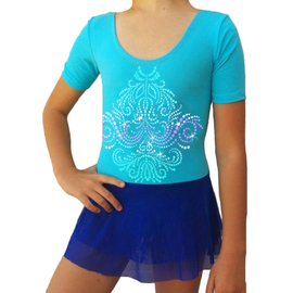 "Turquoise leotard with blue mesh skirt ""Faery rain"""