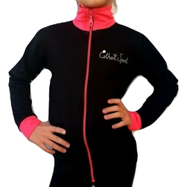 Jacket for trainings Esther Sport with pink cuffs and neck