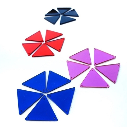 Mirror triangle stones - 10 pcs