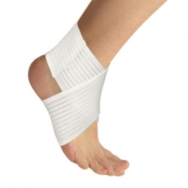 Elastic medical foot bandage, ribbon