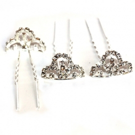 Hair pins with Crown figure