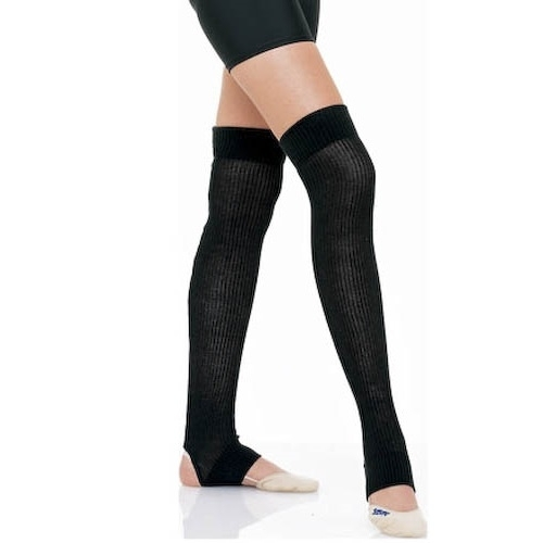 Long senior leg warmers with foot SASAKI