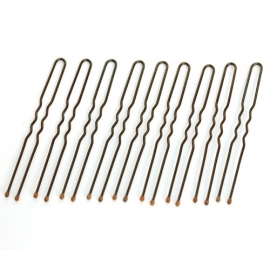 Sprung bobby pins for light hair