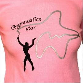 "T-shirt with long sleeve ""Gymnastics Star"""
