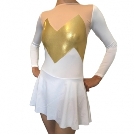 Leotard Tricolor White with skirt