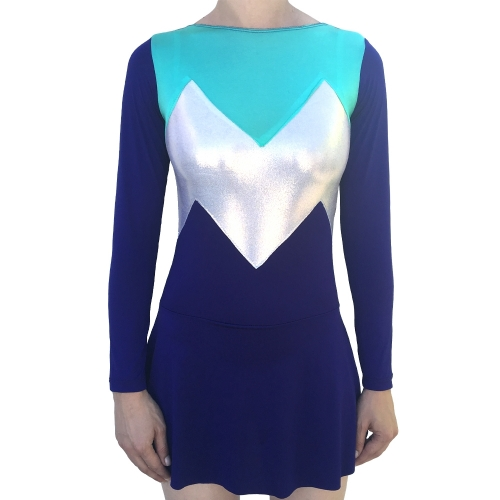 Leotard Tricolor Purple with skirt