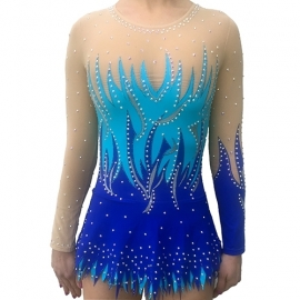 Rhythmic gymnastic leotard Blue Forest for rent