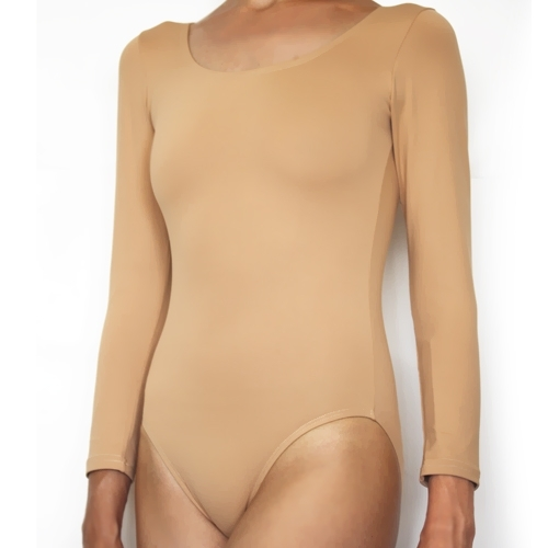 Long sleeve beige leotard