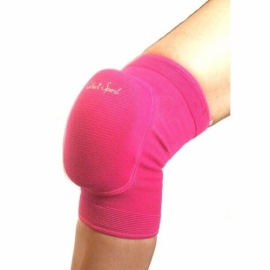 Pink knee pads with elastic pad