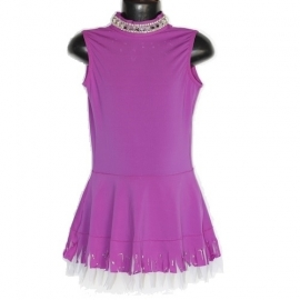 Leotard with bilayer skirt NECKLACE